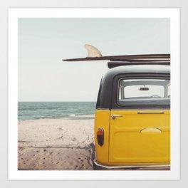Summer surfing Art Print