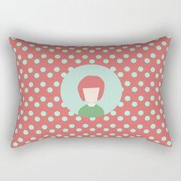 red hair girl Rectangular Pillow
