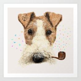 fox terrier sailor Art Print