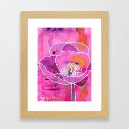 Pretty Poppy Framed Art Print