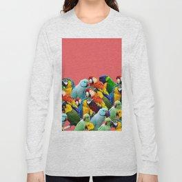 watermelon interior parrots design Long Sleeve T-shirt