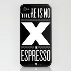 No X in Espresso – Dark Grey iPhone (4, 4s) Slim Case