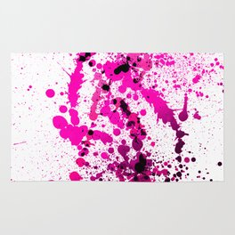 Magenta Madness - Abstract Splatter Style Rug