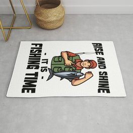 Rise And Shine It Is Fishing Time Rug