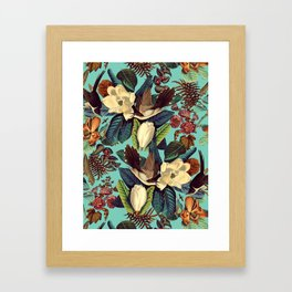 FLORAL AND BIRDS XXI Framed Art Print