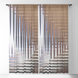 Bright Grid Sheer Curtain
