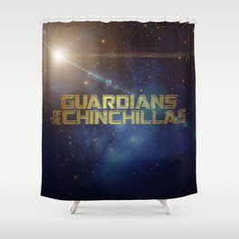 Guardians of the Chinchillas Shower Curtain