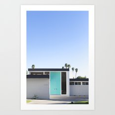 Turquoise Door, Palm Springs Art Print