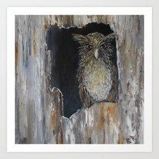 Buffy Fish Owl Art Print