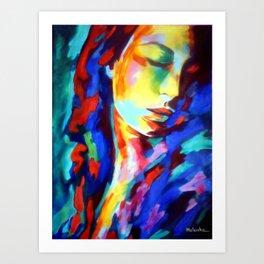 Glow in shadows Art Print