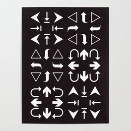 Arrows black and white Poster