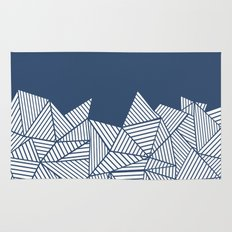 Abstract Mountain Navy Rug