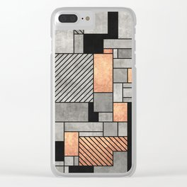 Random Pattern - Concrete and Copper Clear iPhone Case