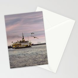 Ferry on the bosphorus in the sunset Stationery Cards