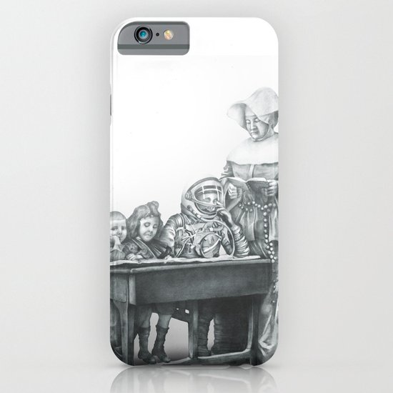 In which a cosmonaut is rendered quizzical iPhone & iPod Case