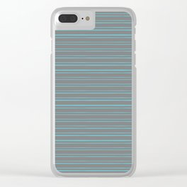 Horizontal Linear Pattern Clear iPhone Case