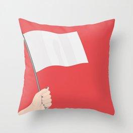 White Flag Throw Pillow