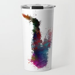 Saxophone #saxophone #sax #music #art Travel Mug