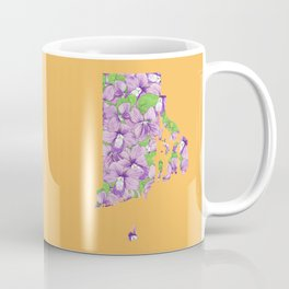 Rhode Island in Flowers Coffee Mug