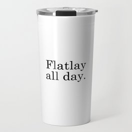 Flatlay All Day - White Travel Mug
