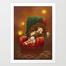 Hermione Granger - Resting time Art Print