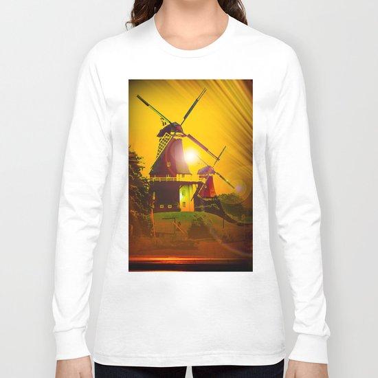 Greetsiel  Zwillingsmühlen Long Sleeve T-shirt