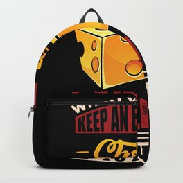 Cheese is ip to no Gouda Backpack