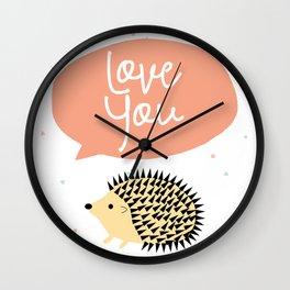 Hedgegog love Wall Clock