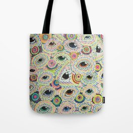 Dots and Eyes Panel A Tote Bag