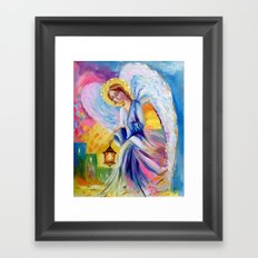The angel of peace and tranquility Framed Art Print
