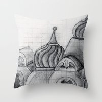 spires Throw Pillows featuring Spires by eckoepp