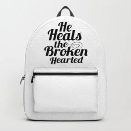 He Heals the Broken Hearted Backpack