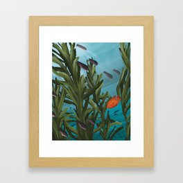 Into the Kelp Framed Art Print