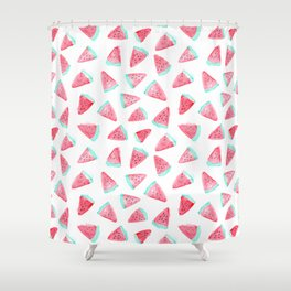 Watermelon watercolor pattern Shower Curtain