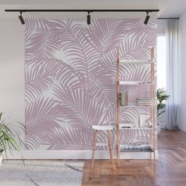 Modern tropical lavender palm tree floral Wall Mural