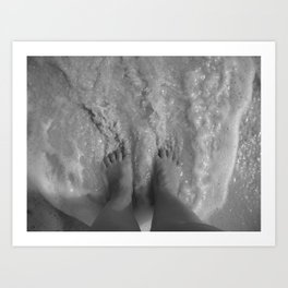 Toes in the Surf B&W - M Art Print