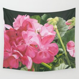 Loves Folly - Geraniums Wall Tapestry