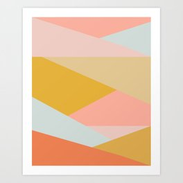 Large Triangle Pattern in Soft Earth Tones Art Print