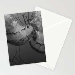 Jellyfish (Black and White) Stationery Cards