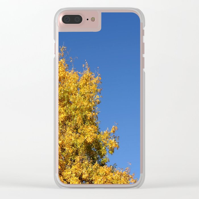Yellow Autumn Tree Clear iPhone Case