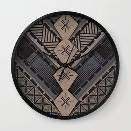 UrbanNesian V Tatau Design Wall Clock
