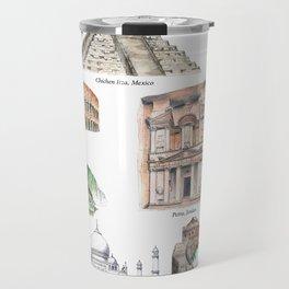 The New Wonders of the World Travel Mug