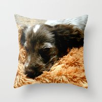 coco Throw Pillows featuring Coco by Sandra Ireland Images