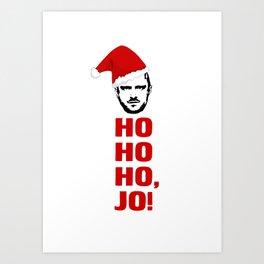 HO HO HO, JO! Breaking Bad Christmas Card Jesse Pinkman Art Print