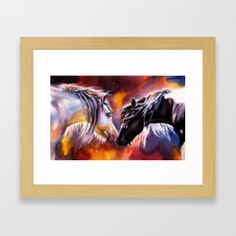 No Words Required Framed Art Print