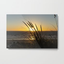 Fistral Beach Sunset Metal Print