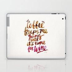 Coffee & Wine – Brown & Magenta Ombré Laptop & iPad Skin