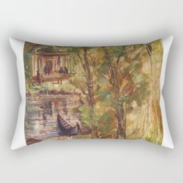 Temple in the Deep Forest in my village Rectangular Pillow