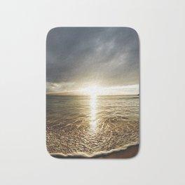 Sunset Over the Ocean Bath Mat