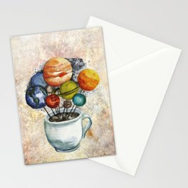 Cup o' Space Stationery Cards